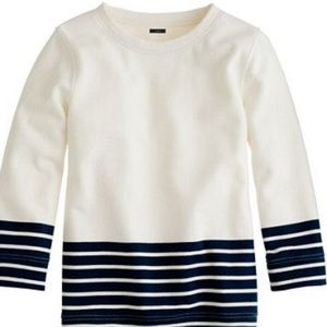 J.Crew color block & striped sweatshirt
